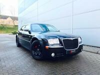 2006 56 reg Chrysler 300C 3.0 CRD V6 auto Black + Black SRT LEATHER + SAT NAV
