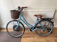 Classic Dawes Mayfair ladies single speed bicycle with Pannier and puncture resistant tyres Pashley