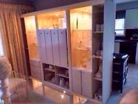 Hutch with Glass Shelves & lights