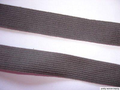 Gummiband 0,23€/m graubraun 10 Meter  Webgummi MN47