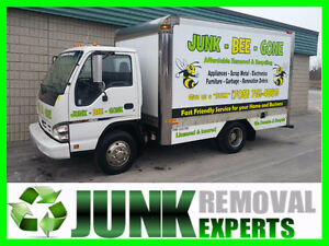 "Junk Bee Gone - Fast, Affordable, Junk Removal. Give us a ""buzz"""