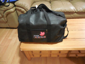 Molson Canadian Black Leather Bag