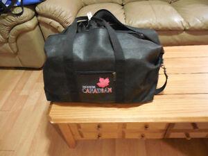 Molson Canadian Black Leather Bag