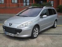 57 Peugeot 307 SW 1.6HDi SE + FACELIFT + 84K + NEW MOT