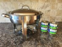 """12"""" stainless steel chafing dish"""