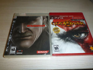 God of War III and Metal Gear Solid 4: Guns of the Patriots