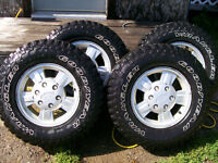 235 / 75 / R15 Chevy Rims & Goodyear Wrangler Tires