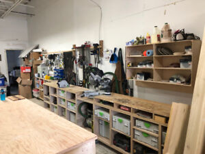 Workshop Chopsaw extensions and storage