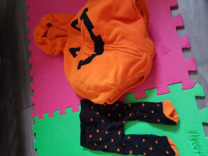 3-6month pumpkin Halloween costume