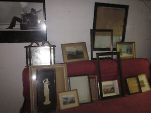 Various frames and pictures for sale