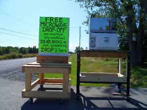 FREE MICROWAVE DROP-OFF!  DEAD OR BROKEN, McINTYRE RD, BATH, ON