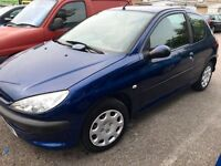 Peugeot 206 1.4 2006 very low mileage,new mot! AA/rac welcome,still insured!! P-ex welcome