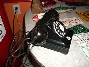 1940's ancien vieux téléphone de bureau comptoir
