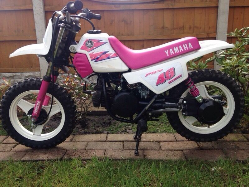 pw50 pw 50 pink junior girls motorcross moto x field bike in darwen lancashire gumtree. Black Bedroom Furniture Sets. Home Design Ideas