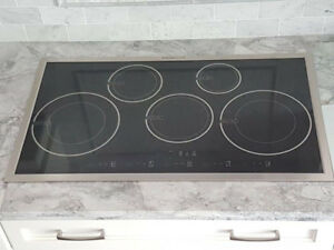 """36"""", 5 burners Induction cook top stainless steel Stove"""