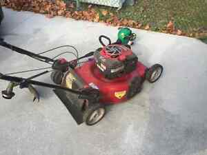 Craftsman self propelled lawnmower and weed trimmer Belleville Belleville Area image 3