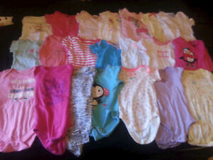 Large lot of baby girl clothes sized 6-9m, 9m, 6-12m!