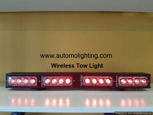 tow truck construction warning strobe light, wireless tow lights