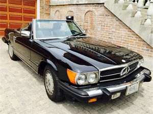 1986 Mercedes-Benz 560 Series Black On Black Roadster -WHITBY