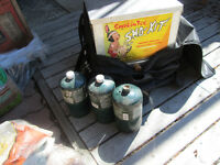 Smokers ,wood chips,briquettes and stuff -good deal
