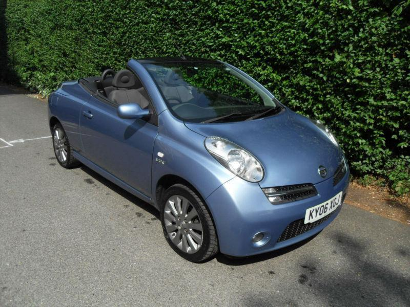 nissan micra c c 1 6 convertible blue 2006 petrol manual sport in stockport manchester. Black Bedroom Furniture Sets. Home Design Ideas