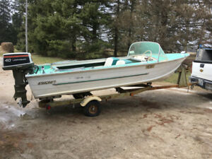 16 ft. Starcraft boat with 40 hp Johnson motor, trailer included