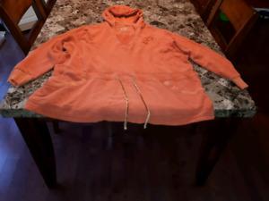 Ladies size 5x Orange Hoodie