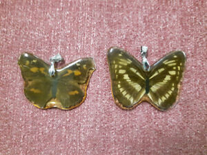 Butterfly resin pendants ($7 each or BOTH $10)