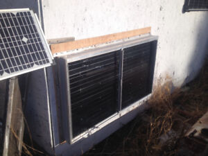 Solar workshop / ice fishing shack heater