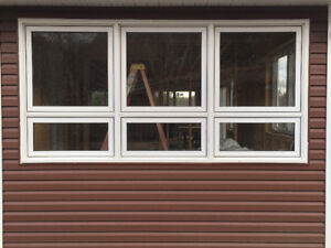 large Vinyl Windows with Low E Argon glass
