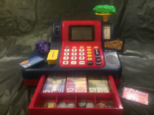 Learning Resources Cash Register with Canadian Currency - $38