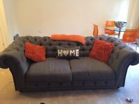 Modern Chesterfield Sofa Bed & Matching John Lewis Table with 4 Chairs