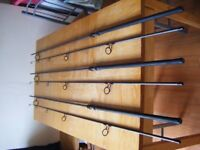 3 fox horizon x rods 12ft 3ib 50mm butt rings full duplon handle