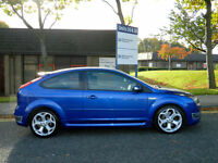 2007 07 Ford Focus 2.5 SIV ST-3 3dr in Performance Blue WITH LEATHER+XENONS+FSH!