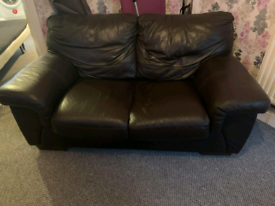 SOLD Leather sofa