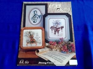 CROSS STITCH PATTERNS (10) - LIFE IS A SONG