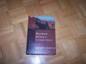 Matthew Henry's Bible Commentary One Volume
