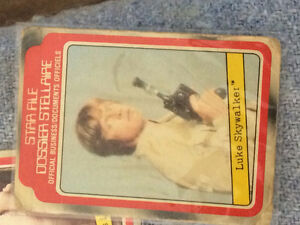 Star Wars toys, cards, books