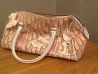 Dior pink girly Boston style handbag