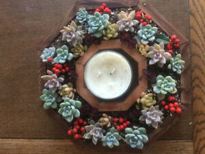 Wreaths made with succulents