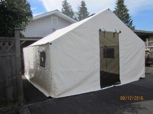 Wall Tent 14x20 New c/w Alum Frame