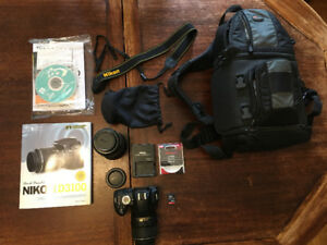 Nikon 3100 in excellent cond. with extras *Must go today*