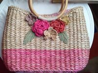 Beautiful Per Una summer basket with lined cover pristine