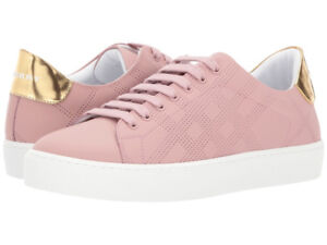 BURBERRY ROSE PINK SNEAKERS, SIZE 8 1/2, RECEIPT+BAG