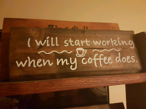 I will start working wood sign