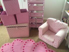 Girls bedroom furniture and storage