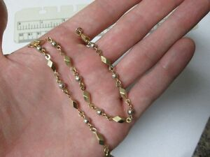 "14K White and Yellow Gold Women's 10"" Heavy Ankelet !"