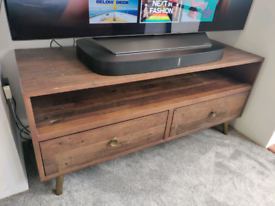 TV table in reclaimed wood