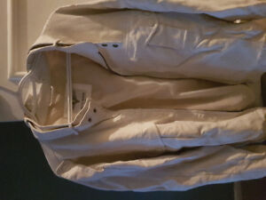White (FAUX) Leather jacket- Mens
