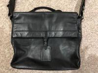 Hugo Boss Leather Messenger/Work Bag